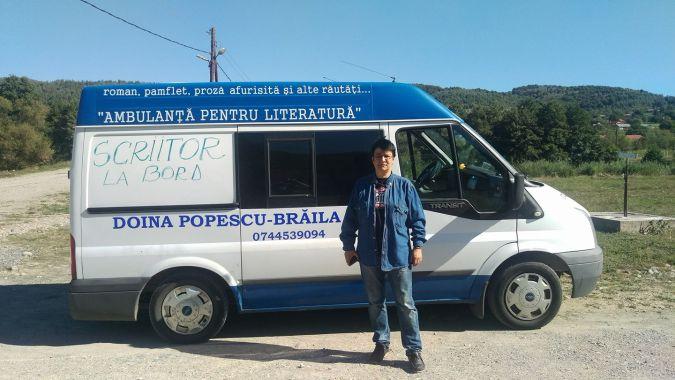 Doina Popescu Braila cu Ambulanta pentru Literatura